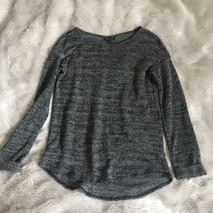 Topshop Long Sleeve gray top size 6